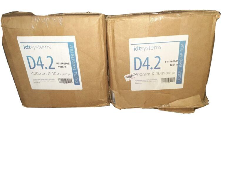 2x New Oen box IDT Systems D4.2 400mm X 40mm Digital Transfer Film F71760903