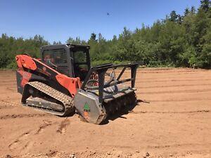 Land mulching and tree trimming
