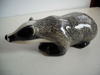 Delightful  Badger Figurine By Quail Pottery Boxed