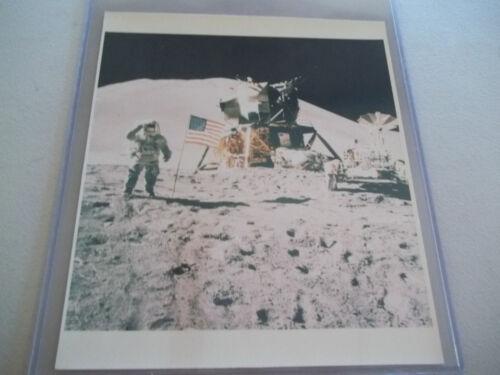 Apollo 15 Vintage NASA Photo / Irwin Saluting the Flag