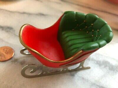 Vintage Hallmark Merry Miniatures Christmas Decoration Santa Sleigh