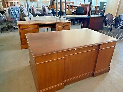 Executive Desk Credenza Set By Jofco Office Furniture In Cherry Wood