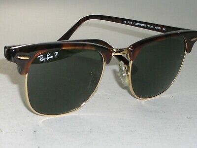 49[] 21mm Ray-Ban RB 3016 Tort Gold Polarisiert Kristall Linse Clubmaster