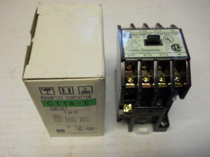 TOSHIBA C11A-E 1NO MAGNETIC CONTACTOR 15A 240V NEW CONDITION IN BOX