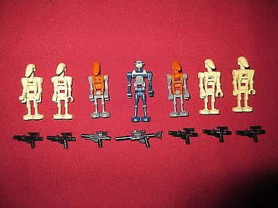 Lego Star Wars Minifigures Lot Tx 20 Rare Droid 6 Battle Droids With Weapons