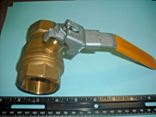 Parker VP500P-20 Brass Industrial Ball Valve With Locking handle, PTFE Seal, NEW
