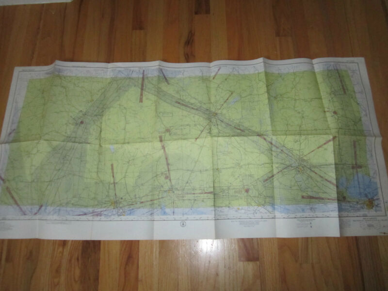 "1957 BEAUMONT SECTIONAL CHART MAP - 49"" X 33"" - TUB RH-3"