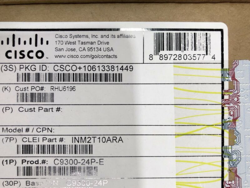 *NEW* Cisco C9300-24P-E Catalyst 9300 24-port PoE+, Network Essentials