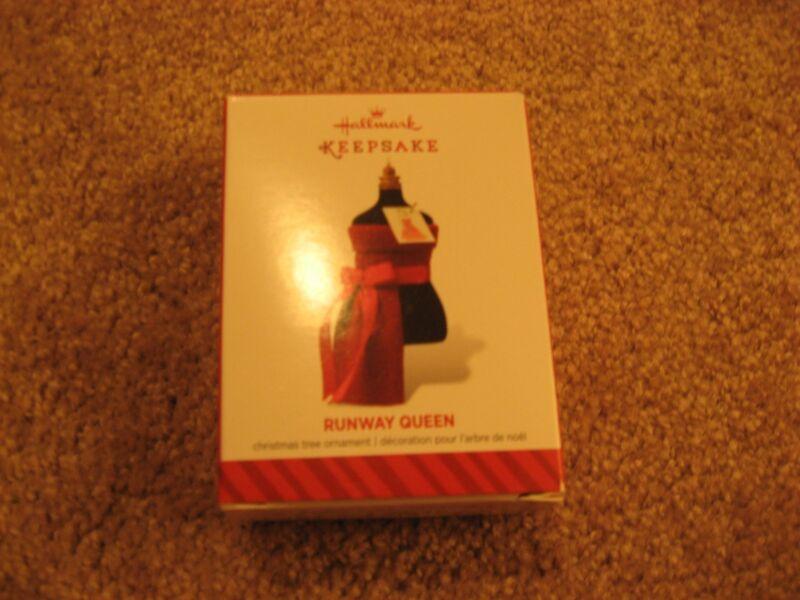 New in Box Hallmark Keepsake Christmas Ornament Runway Queen Dressmaker Form