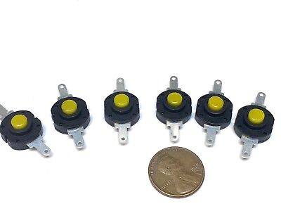 6 Pieces Yellow Flashlight Button Latching Tactile Switch On Micro Onoff B28