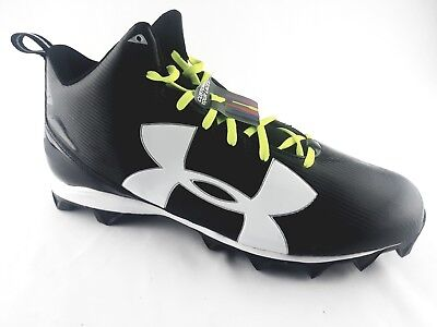 212127b1c4ec Mens Under Armour Size 15 Armour Bound Football Cleats Black/White  1286600-001