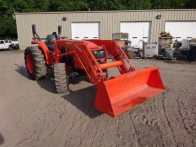 Kubota Mx4800 Utility Tractor 5.8 Hours Loader Mfwd 4wd Ps 3 Pt Qa Pto