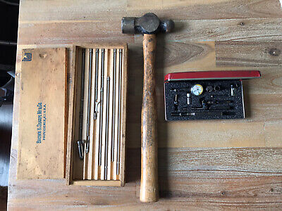 Tool Lot Starrett .0005 Last Word Dial Indicator No 711 Snap On Hammer Brown 267