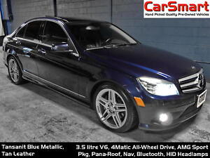 2010 Mercedes-Benz C-Class C350 4MATIC, Pana-Roof, Nav, Bluetoot