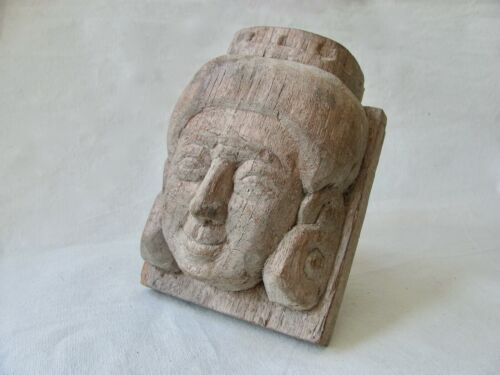 Antique / Vintage Carved Wood Face from Thailand