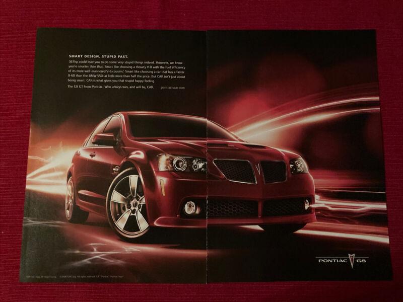 Pontiac G8 Car 2008 Ad/Poster Promo Art Ad