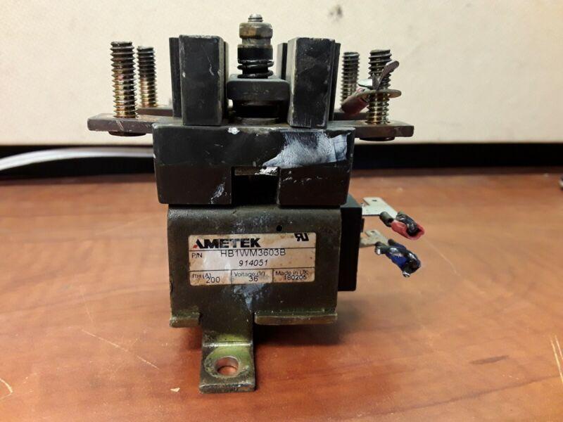 AMETEK HB1WM3603B Contactor, 200A 36V