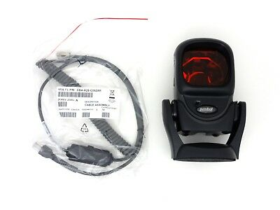 New Symbol Ls-9208-7nnr2800sr Barcode Scanner Kit Wcradle Verifone Ruby Cable