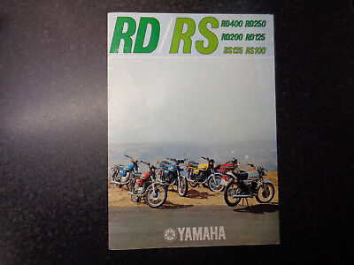 GENUINE ORIGINAL YAMAHA RD / RS MOTORCYCLE SALES BROCHURE RD250 RD400 RD200