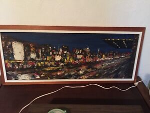 Large signed modernist abstract painting