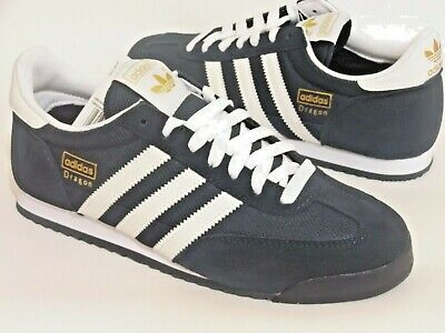 Adidas Dragon Mens Shoes Trainers Uk Size 10   G50919  Navy / White