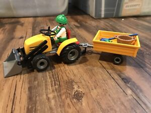 Playmobil tractor and trailer