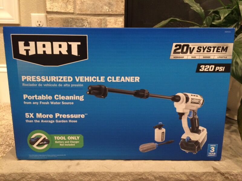 HART 20V Pressure Washer PRESSURIZED Vehicle CLEANER (Tool-only, No Battery) NEW