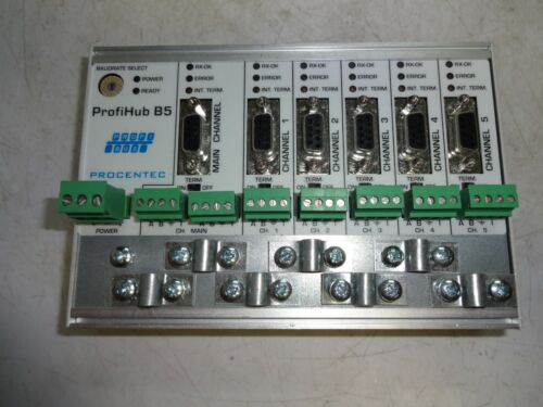17010 ProfiHub B5 5 Channel Profibus Multichannel DP Repeater Procentec