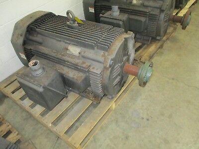 Lincoln AC Motor 200HP 1200RPM FR: 449U ENCL: TEFC 460V Inverter Duty Used