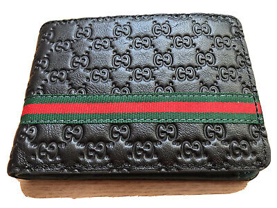 Gucci Signature Stripe Wallet With Coin Pocket