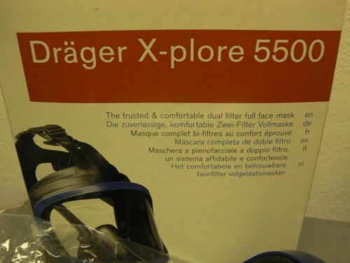 Drager X-plore 5500 dual filter Full Face Mask - SIZE LARGE