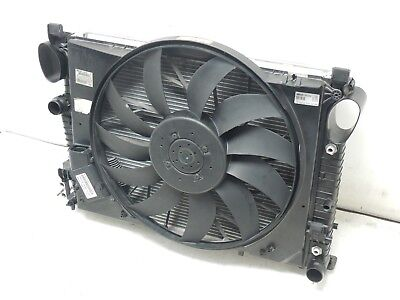 03+ MERCEDES W220 S430 S500 Radiator Cooling Fan Condenser Steering Cooler Assy