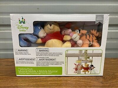Disney Baby Winnie The Pooh Peeking Pooh Musical Mobile Crib Toy Newborn Toddle