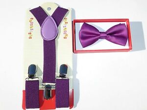 Suspender and Bow Tie Matching Colors Baby Toddler Kids Boys Girls Child  USA