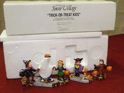 Dept 56 Original Snow Village Halloween Trick or Treat Kids in Costumes Set of 3 - Origin Of Halloween Costumes