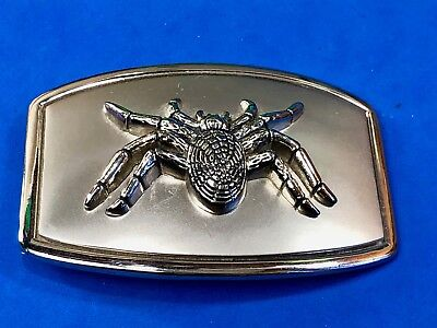 Figural LARGE spider hairy  cute or ugly? tarantula Belt Buckle  - Cute Tarantula
