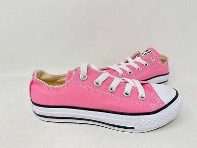 NEW! Converse Youth Girls Lace Up Low Top Chuck Taylor Shoes Pink #3J238 156T tk
