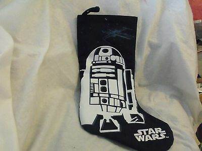 Star Wars Christmas Stocking, R2D2, Blue & White, Star Wars Embroidery, No Tags