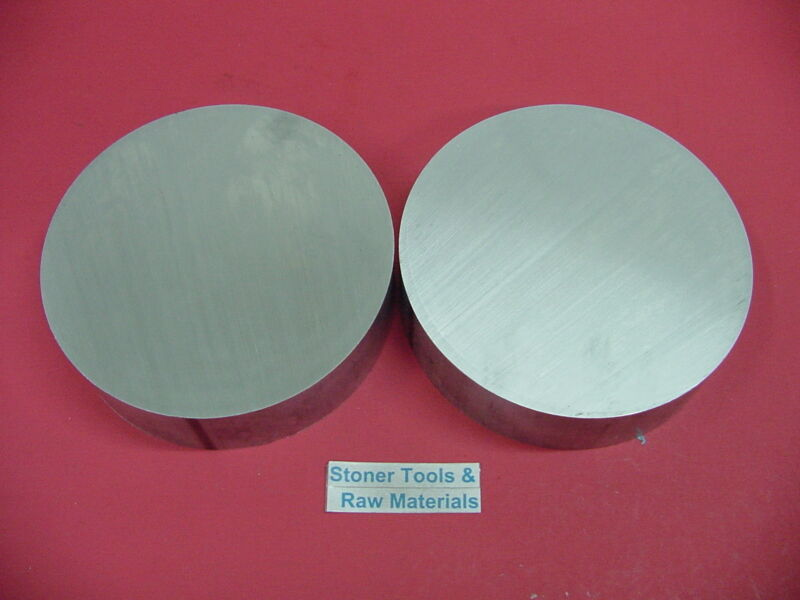 "2 Pieces 7"" ALUMINUM 6061 ROUND ROD 1/2"" LONG T6511 7.0"" Diameter Solid Bar"