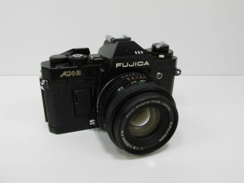 Fujica AX-3 35MM Camera with lens  AS-IS UNTESTED