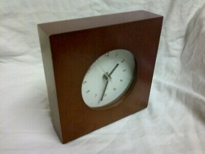 CLOCK SQUARE CLOCK WOODEN CLOCK UNUSUAL CLOCK ATTRACTIVE CLOCK GIFT IDEA