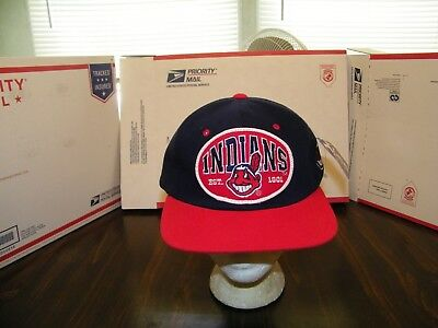 Used, CLEVELAND INDIANS RARE CHIEF WAHOO LEE SPORT SNAP BACK CAP HAT OFFICIAL MLB NWT  for sale  Anderson