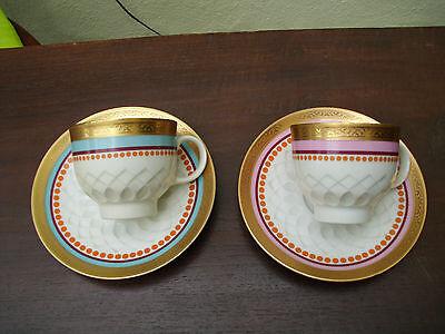 Porzellan Kaffeetassen Art Deco sehr schön !!