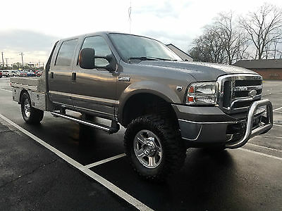 ford f350 super duty lariat 4x4 crew cab custom aluminum flat bed tool boxes used ford f. Black Bedroom Furniture Sets. Home Design Ideas