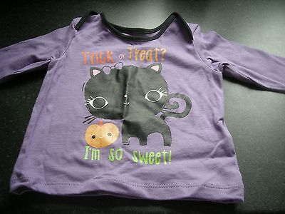 Marks And Spencer Halloween Baby (M&S HALLOWEEN BABY TRICK OR TREAT I'M SO SWEET T-SHIRT 3-6 MONTHS 100%)
