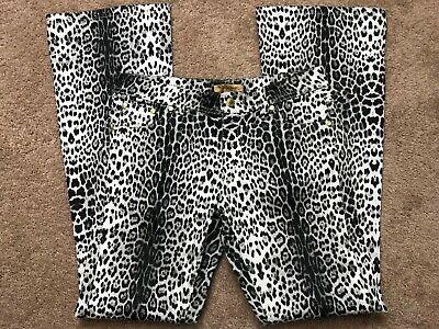Roberto Cavalli H&M Denim Jeans Womens Size 10 Leopard Print New With Tag Rare