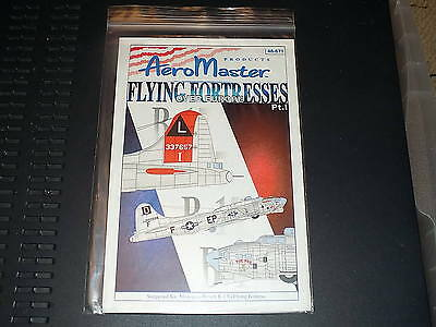 Aeromaster Decals 48671 1/48 B-17 Flying Fortresses Over Europe Part 1