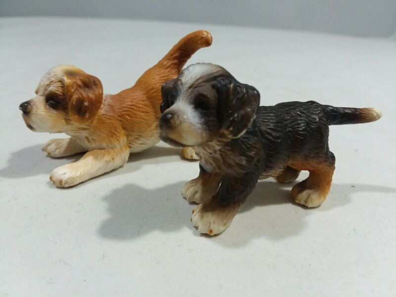 SCHLEICH Lot of 2 Puppy ST. BERNARD BERNESE 2005 - RETIRED