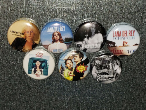 """Lana Del Rey Magnet 7 1"""" Refrigerator Album Vinyl Discography Mini LP - LOT A"""