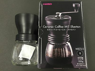 Hario Ceramic Coffee Mill Skerton Storage Capacity 100g MSCS-2B from JAPAN